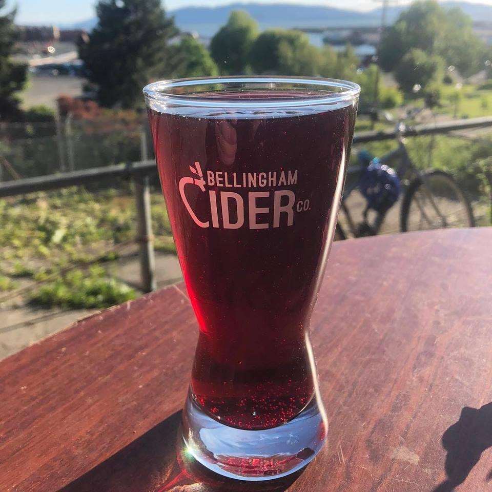 Glass of Bellingham Cider Co. Cider