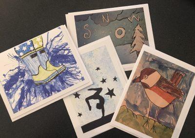 Children's Art Note Cards