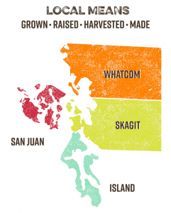 We define local as Whatcom, Skagit, San Juan, and Island counties