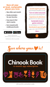 Inside of Chinook Book Subscription card