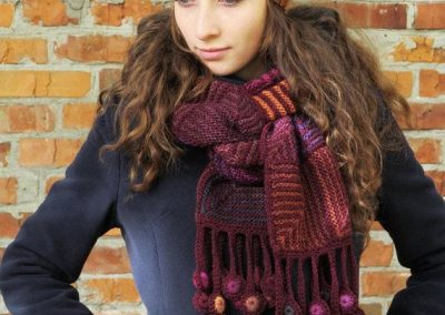 Locally hand knit hat scarf and mittens from Whatcom Art Market, Gallery & Gifts.