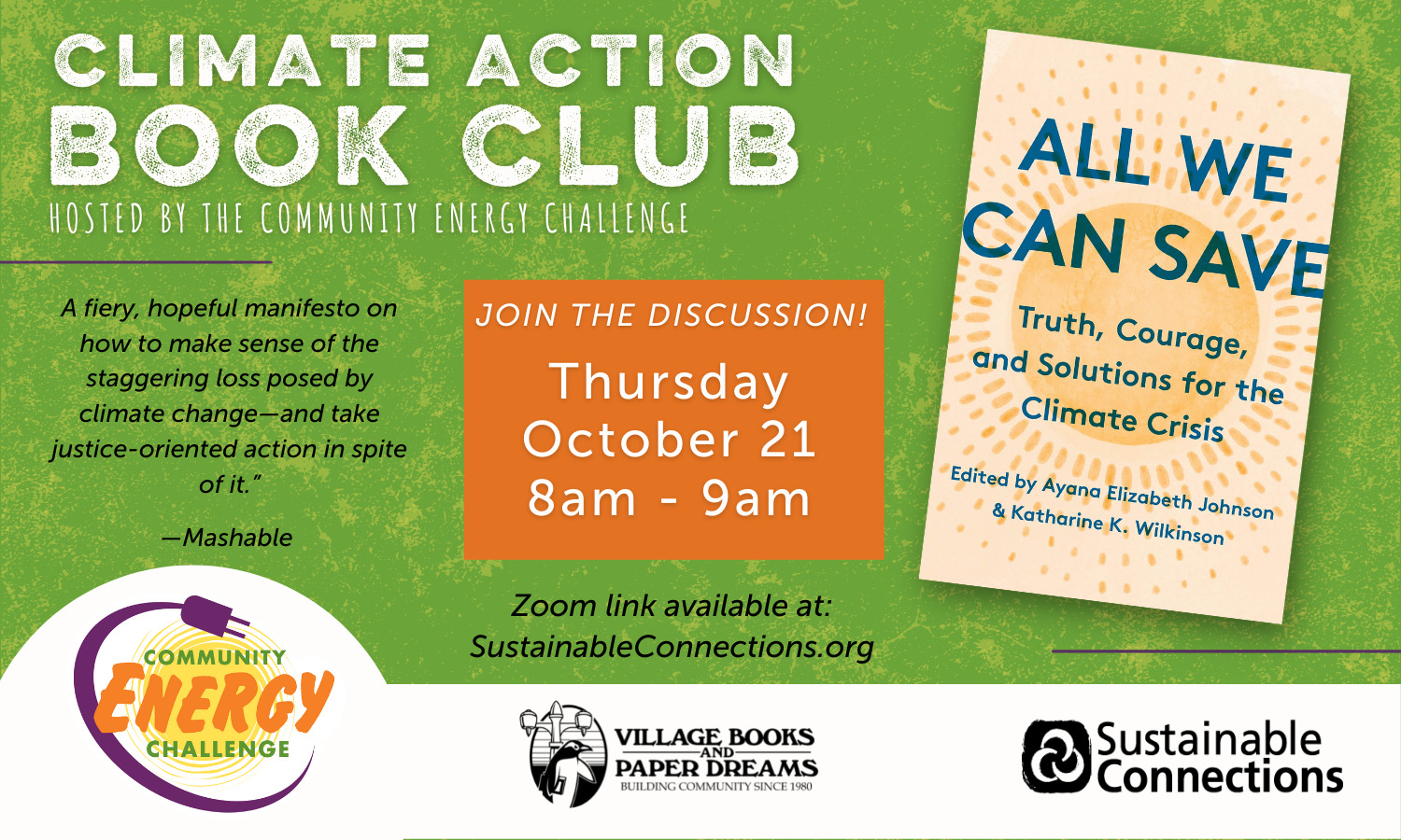 Virtual Climate Action Book Club: All We Can Save