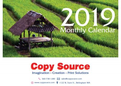 Personalized calendar from Copy source