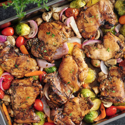 Pan Roasted Chicken and Veggies