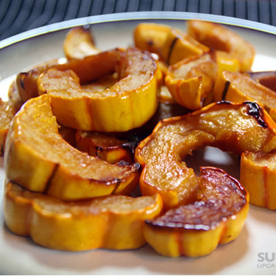 Roasted Delicata Squash with Honey and Sea Salt
