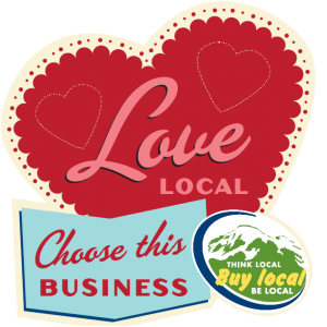 Show Your Local Love Window Sticker no background
