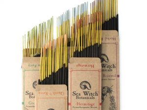 Stacks of incense from Sea Witch Botanicals.