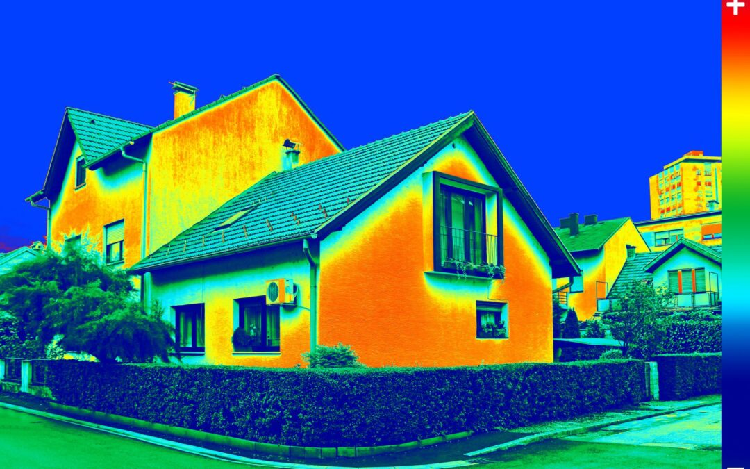 thermal colors on house